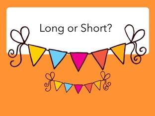 long-short activities for preschool